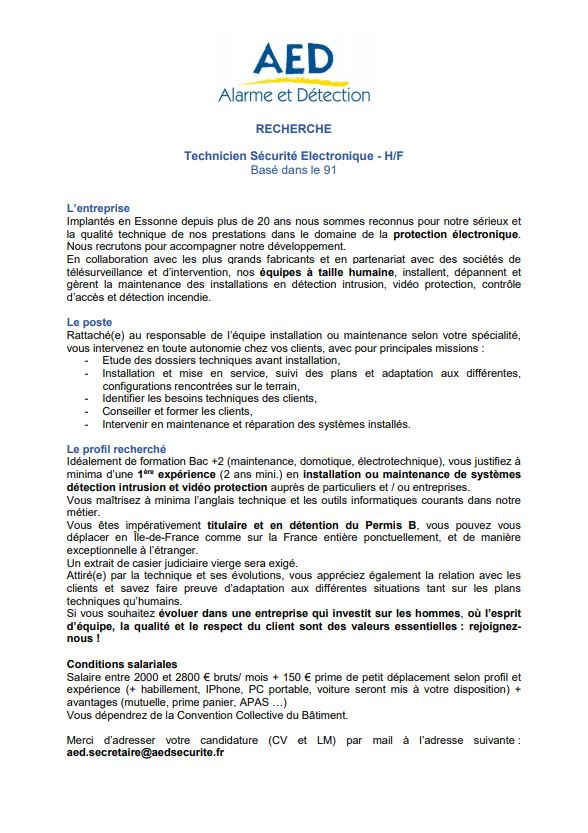 aed-poste-technicien-securite-electronique